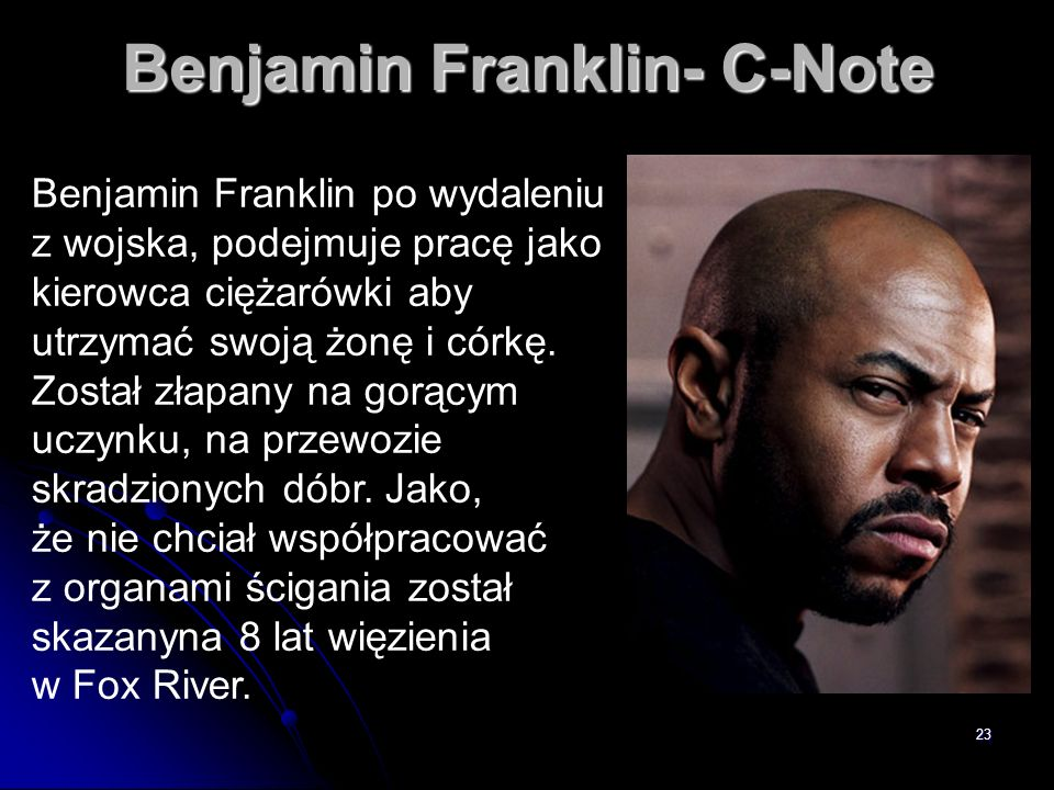 Benjamin Franklin- C-Note