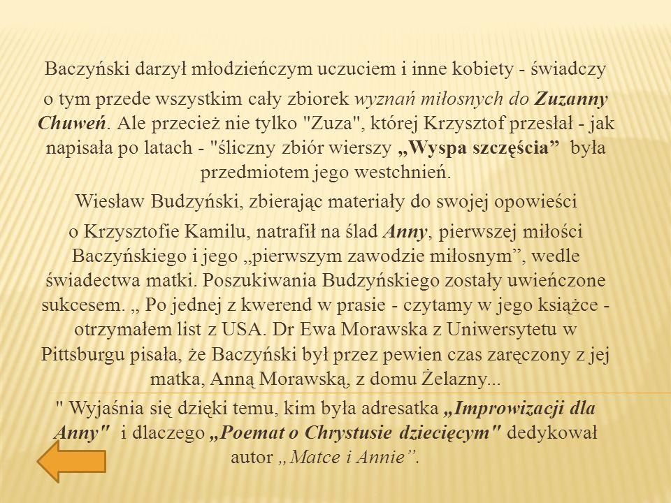 Baczyński darzył młodzieńczym uczuciem i inne kobiety - świadczy