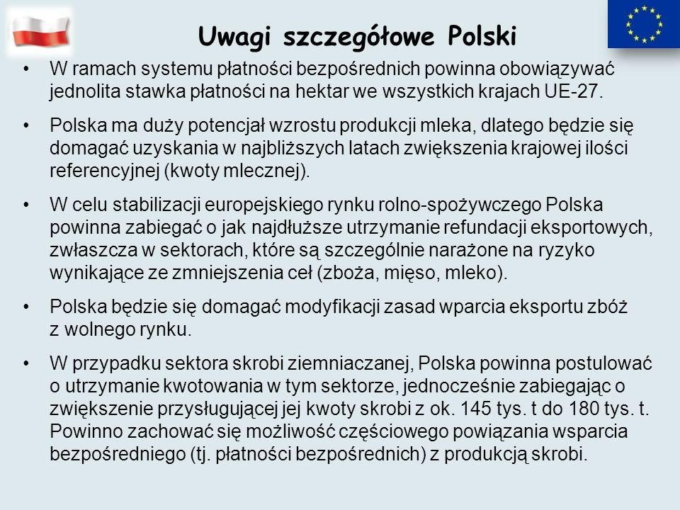 Uwagi szczegółowe Polski