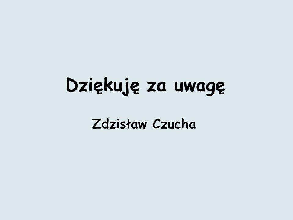 Dziękuję za uwagę Zdzisław Czucha
