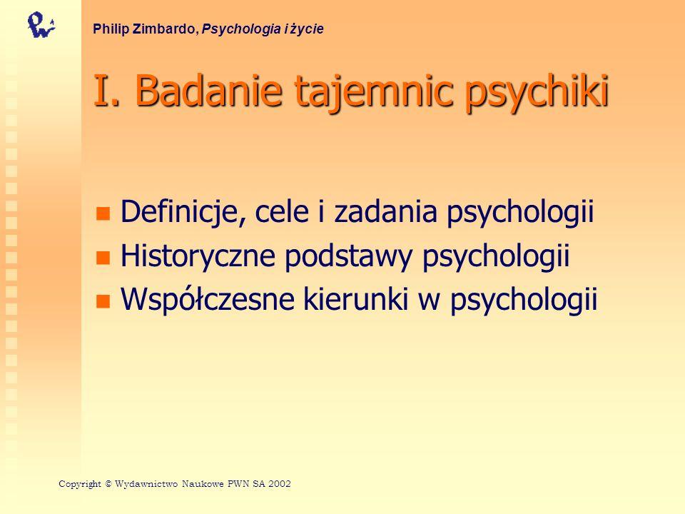I. Badanie tajemnic psychiki