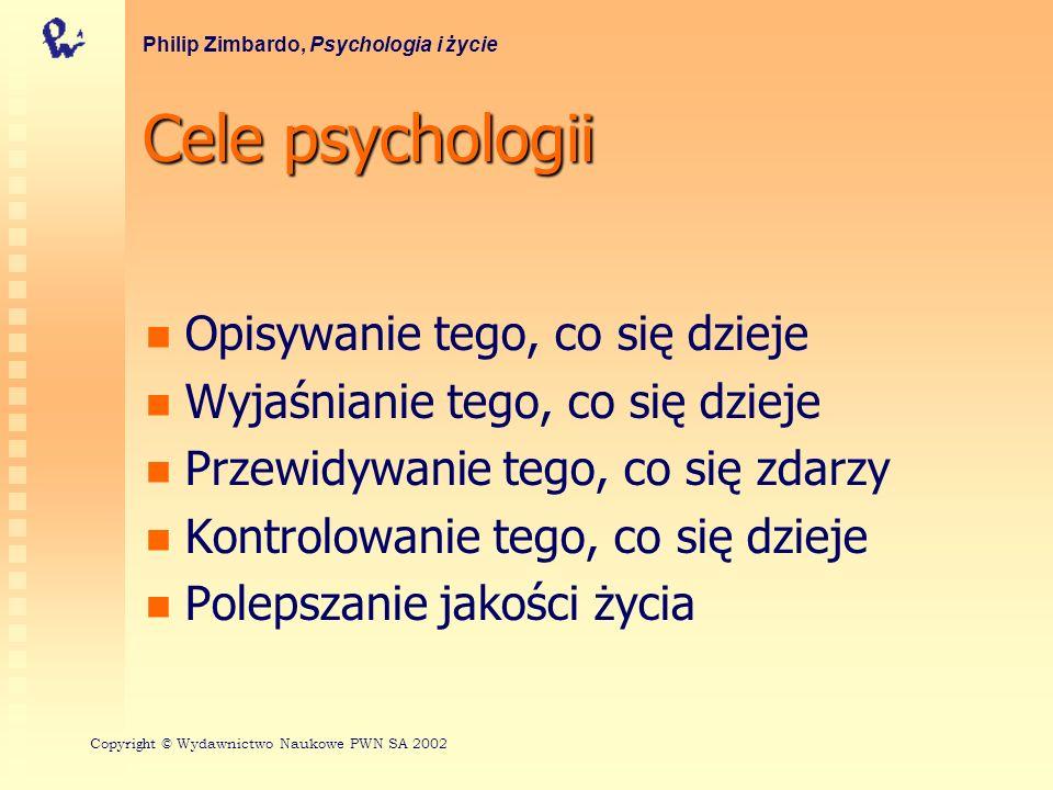 Cele psychologii Opisywanie tego, co się dzieje
