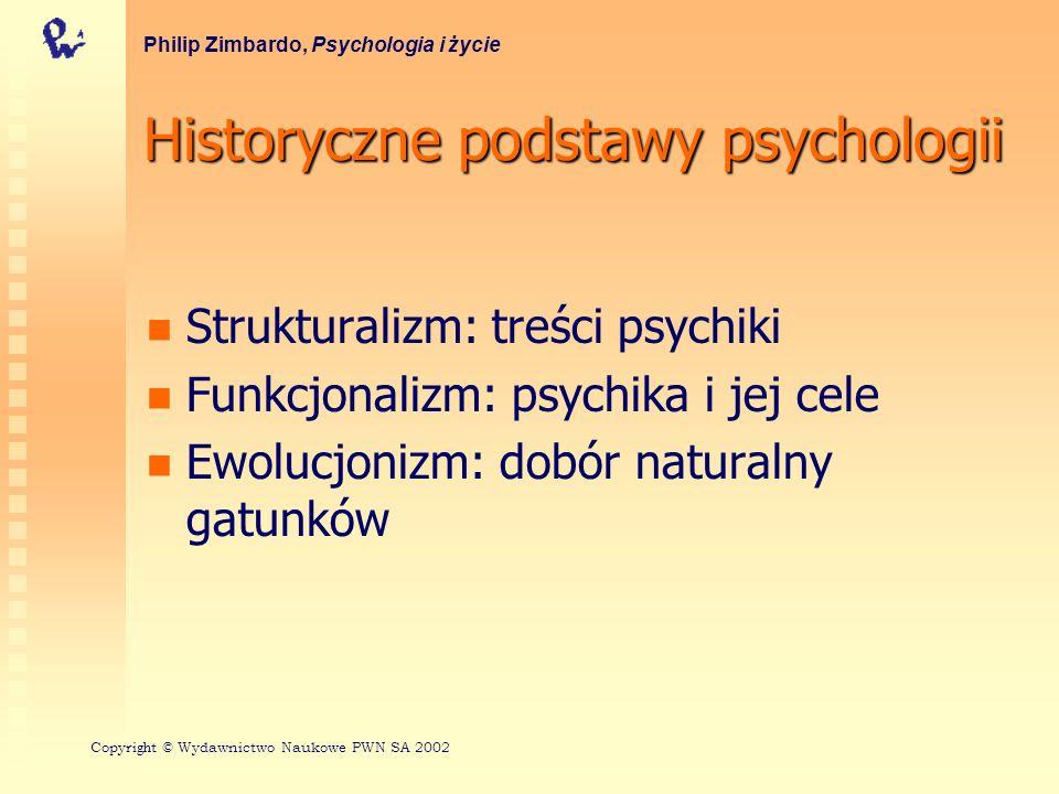 Historyczne podstawy psychologii