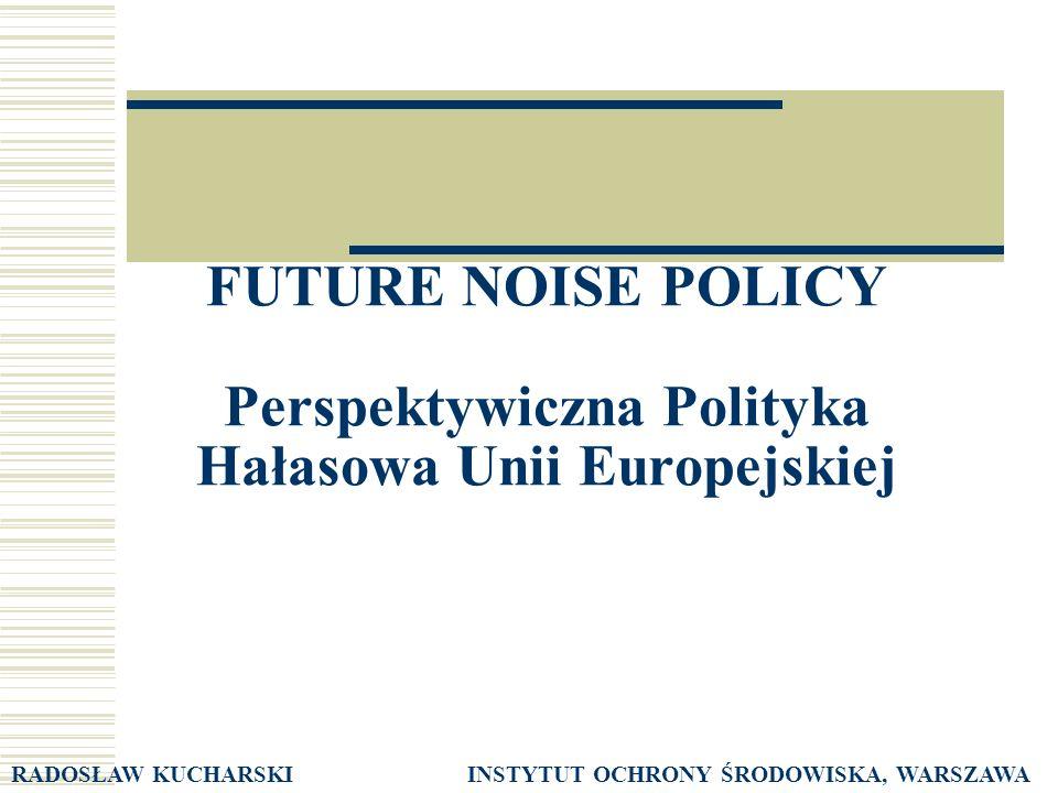 FUTURE NOISE POLICY Perspektywiczna Polityka Hałasowa Unii Europejskiej
