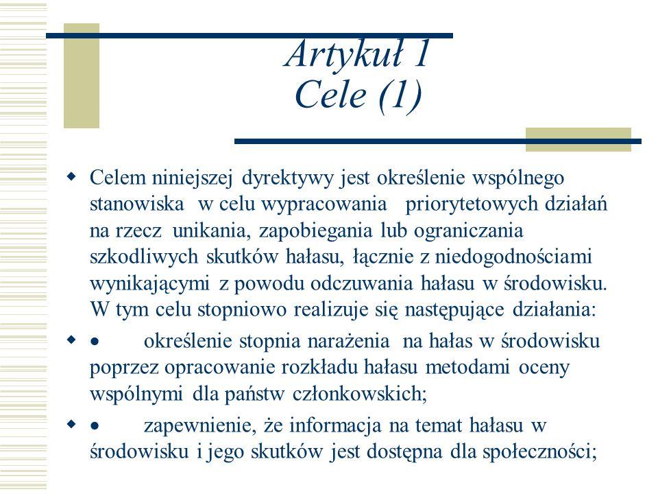 Artykuł 1 Cele (1)