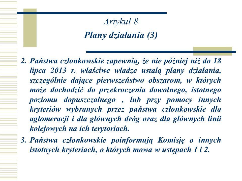 Artykuł 8 Plany działania (3)