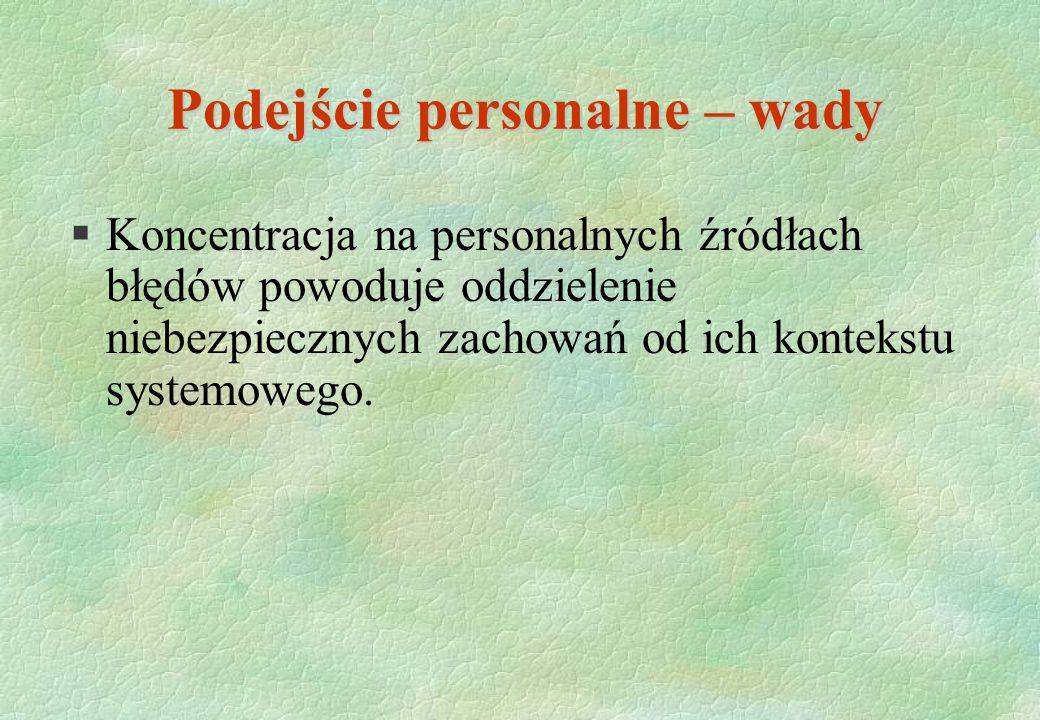 Podejście personalne – wady