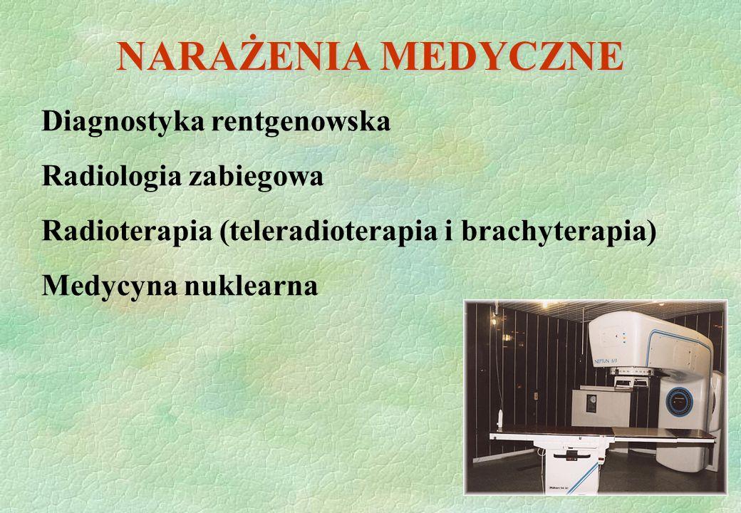 NARAŻENIA MEDYCZNE Diagnostyka rentgenowska Radiologia zabiegowa