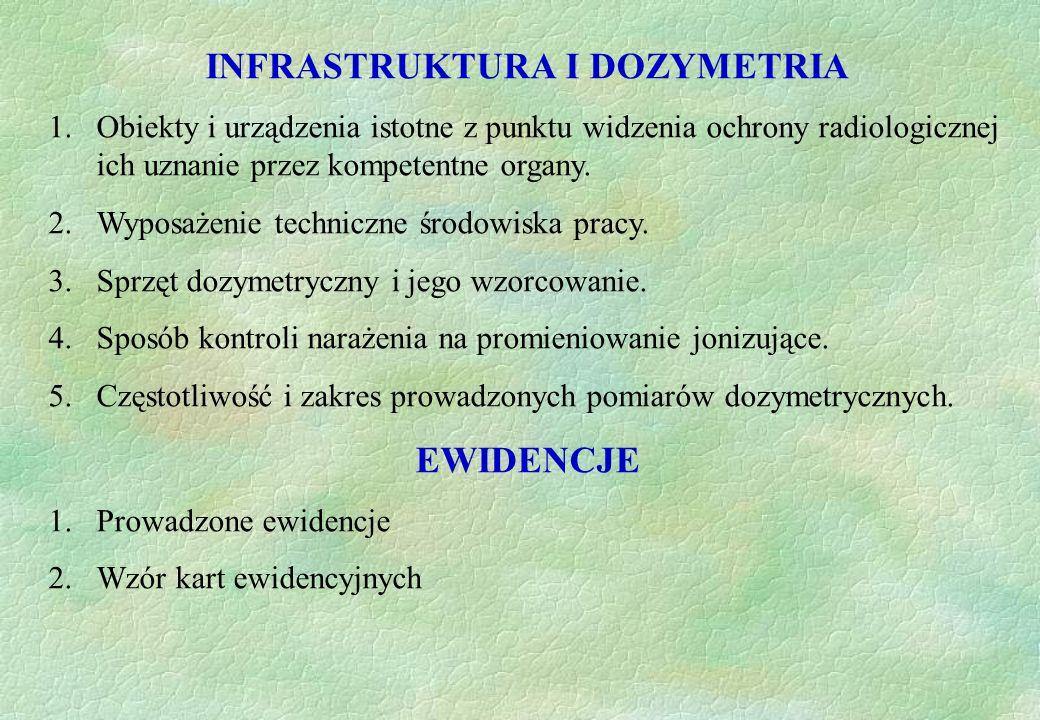 INFRASTRUKTURA I DOZYMETRIA