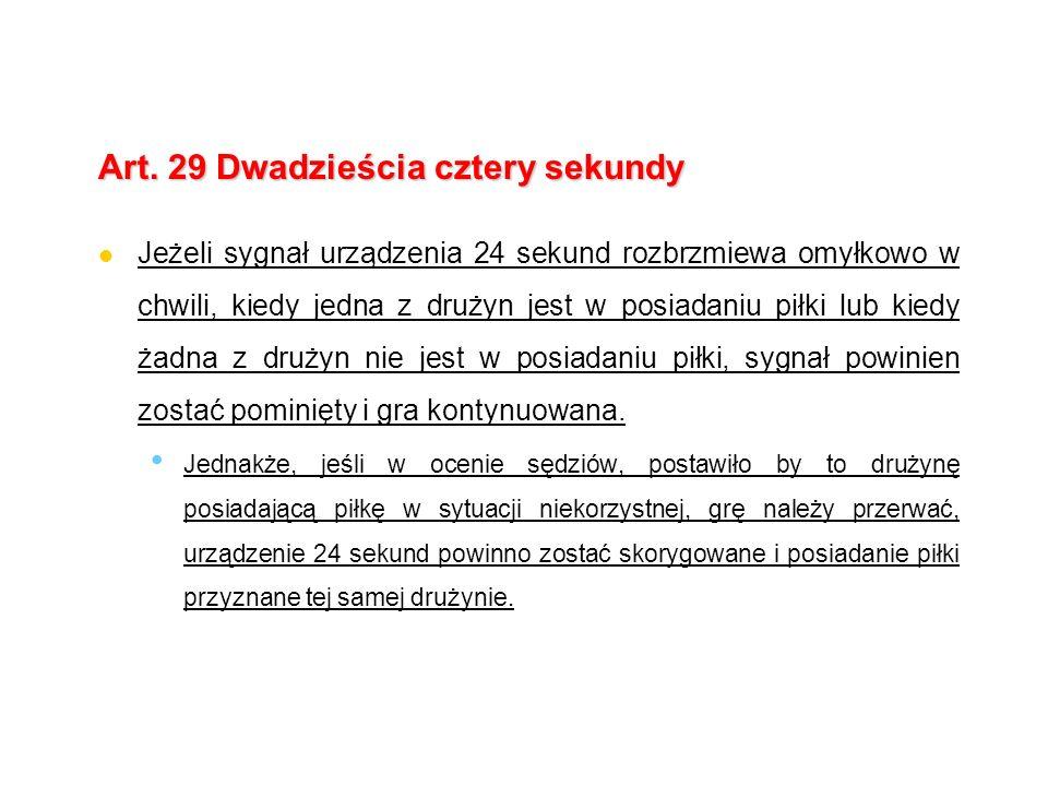 Art. 29 Dwadzieścia cztery sekundy