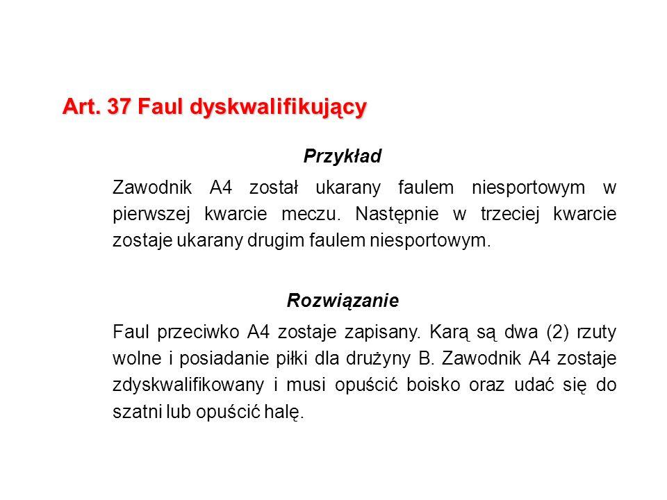 Art. 37 Faul dyskwalifikujący