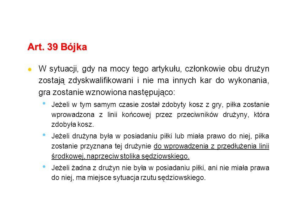 Art. 39 Bójka