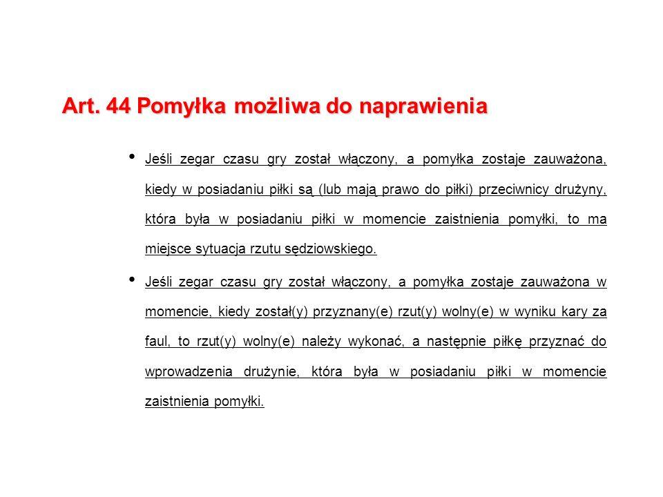Art. 44 Pomyłka możliwa do naprawienia
