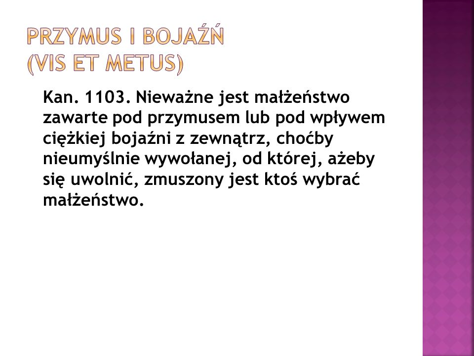 Przymus i bojaźń (Vis et Metus)