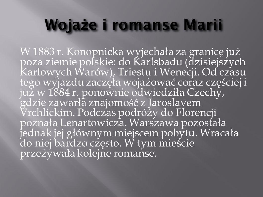Wojaże i romanse Marii