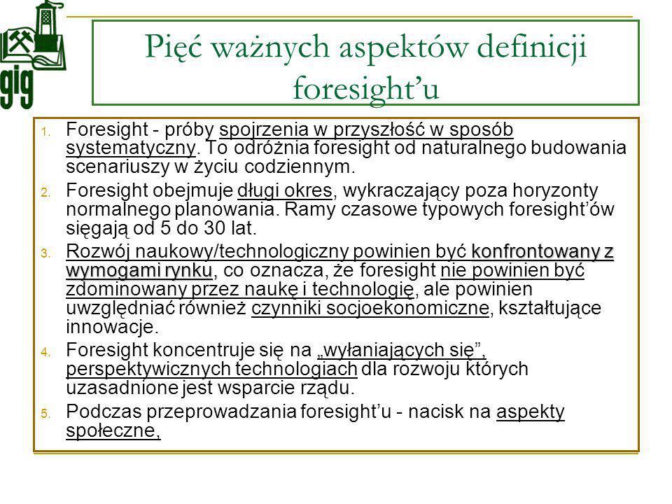 Pięć ważnych aspektów definicji foresight'u