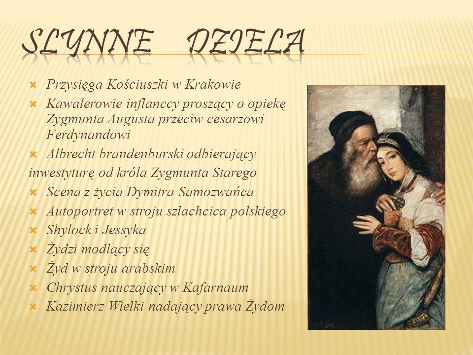 Slynne dziela Przysięga Kościuszki w Krakowie