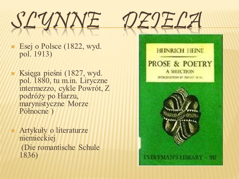Slynne dziela Esej o Polsce (1822, wyd. pol. 1913)