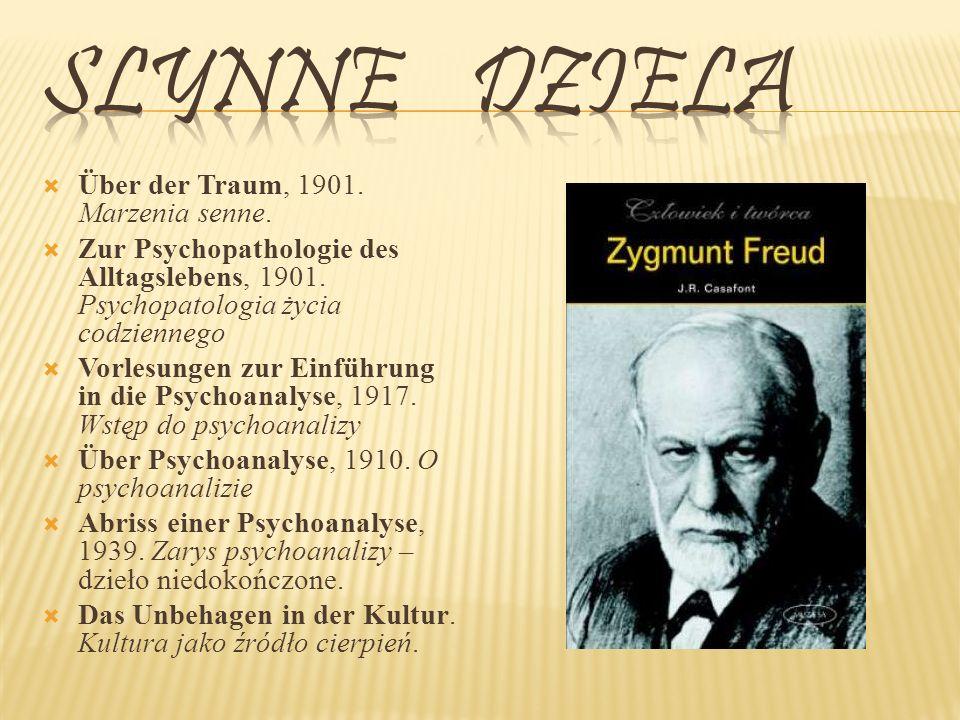 Slynne dziela Über der Traum, 1901. Marzenia senne.