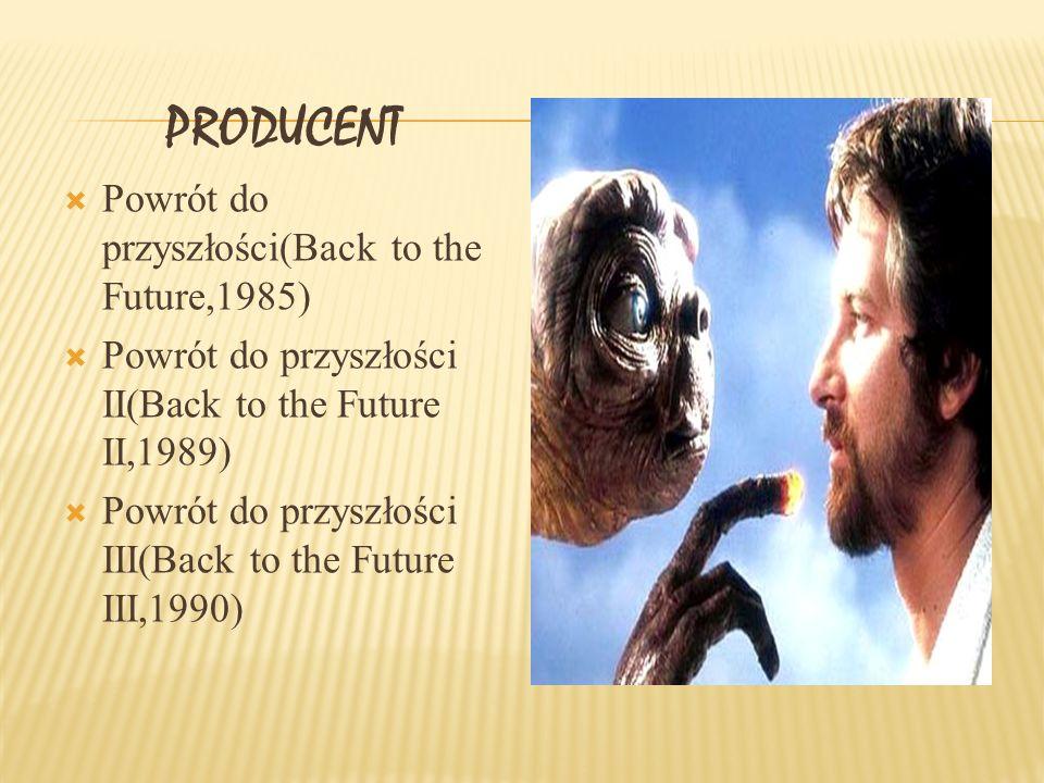 PRODUCENT Powrót do przyszłości(Back to the Future,1985)