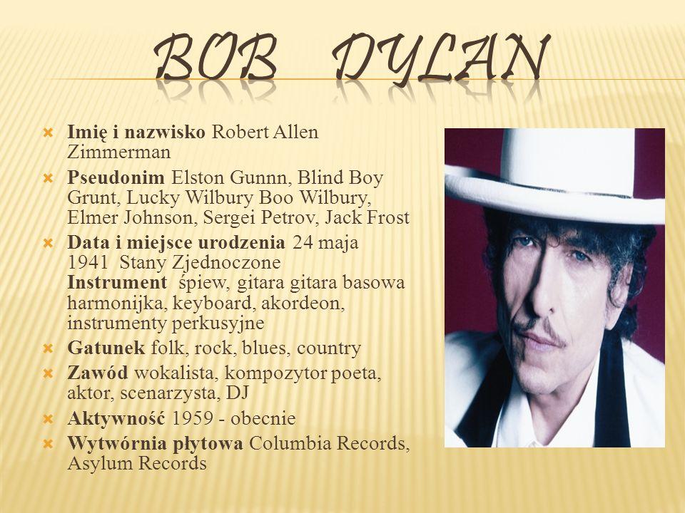 Bob Dylan Imię i nazwisko Robert Allen Zimmerman