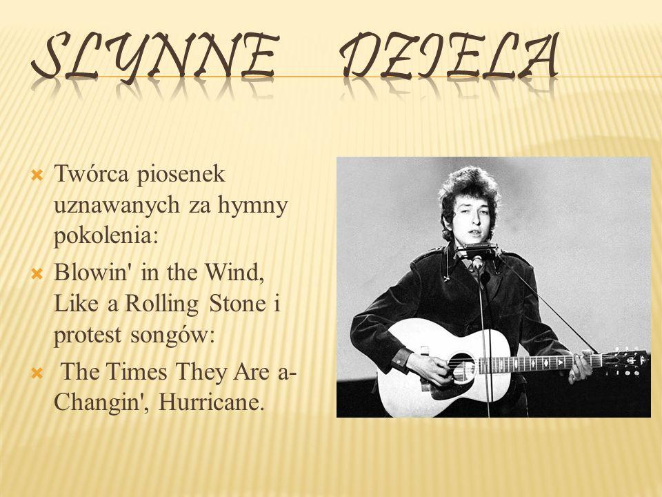 Slynne dziela Twórca piosenek uznawanych za hymny pokolenia: