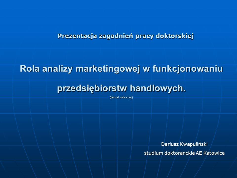Dariusz Kwapuliński studium doktoranckie AE Katowice