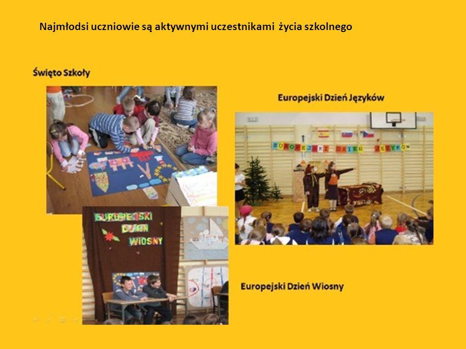Najmłodsi uczniowie są aktywnymi uczestnikami życia szkolnego