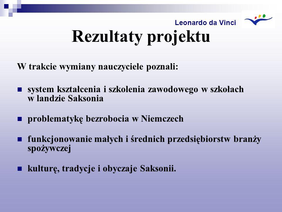 Rezultaty projektu W trakcie wymiany nauczyciele poznali: