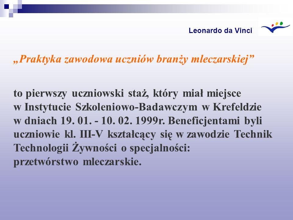 """""""Praktyka zawodowa uczniów branży mleczarskiej"""