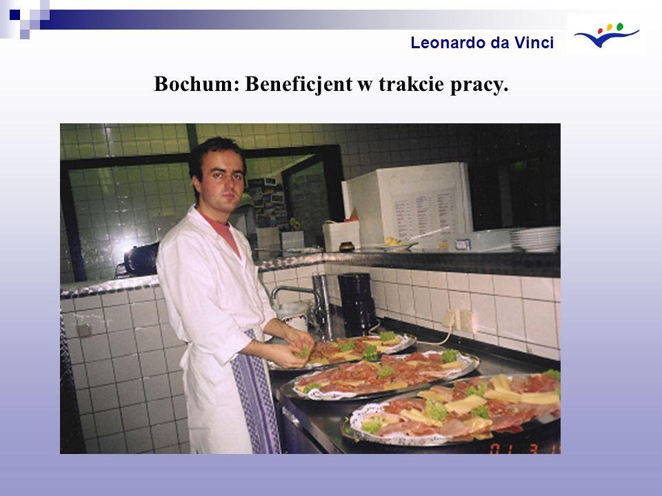 Bochum: Beneficjent w trakcie pracy.
