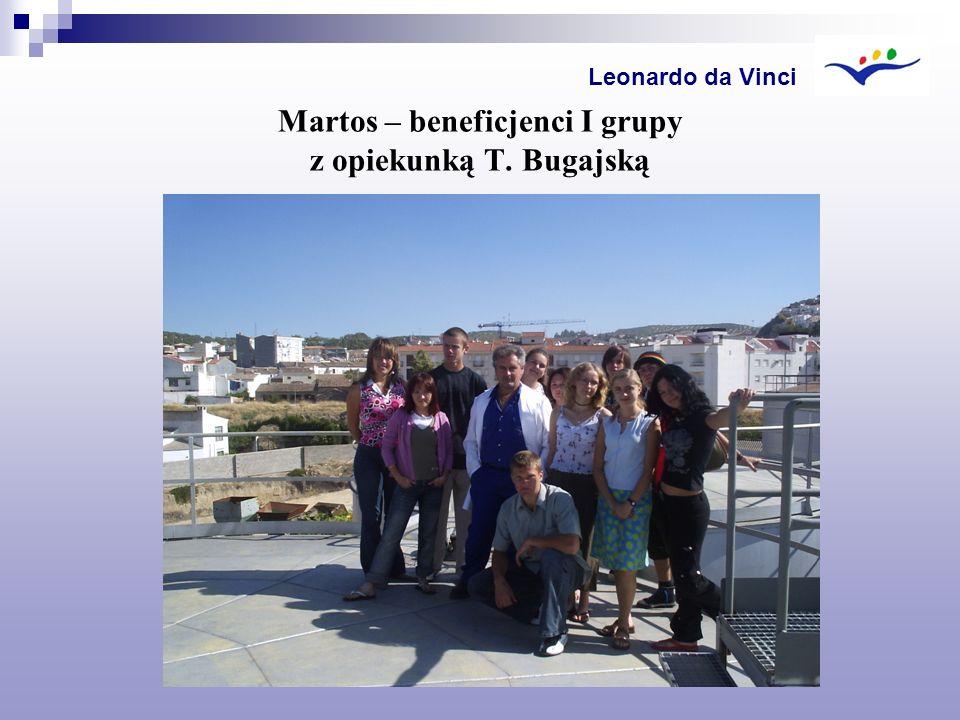 Martos – beneficjenci I grupy z opiekunką T. Bugajską