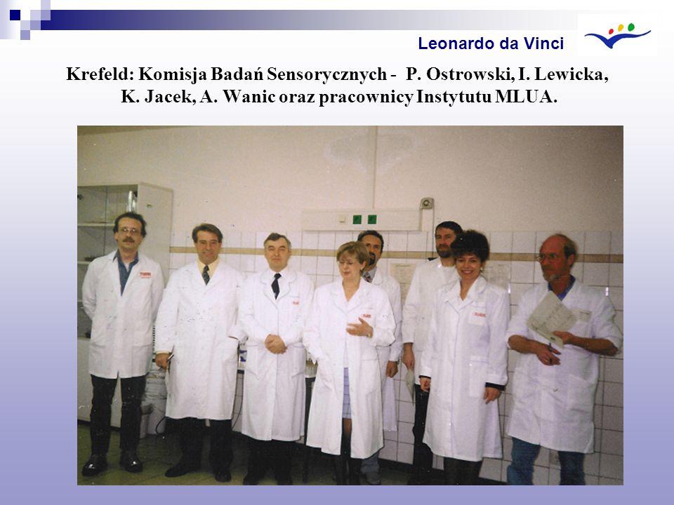 Leonardo da Vinci Krefeld: Komisja Badań Sensorycznych - P.