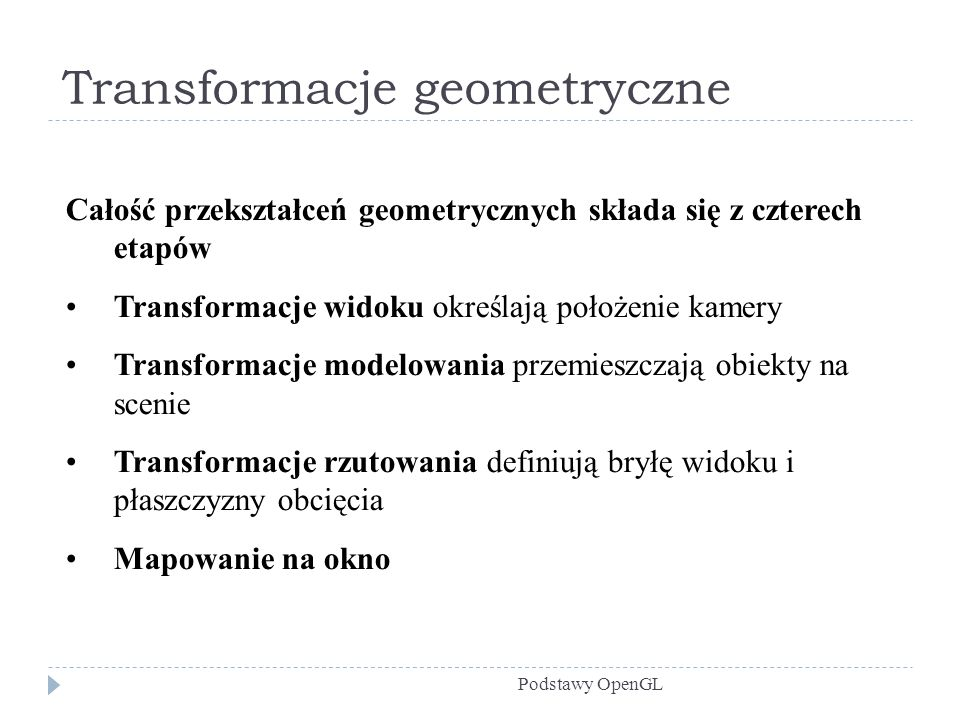 Transformacje geometryczne