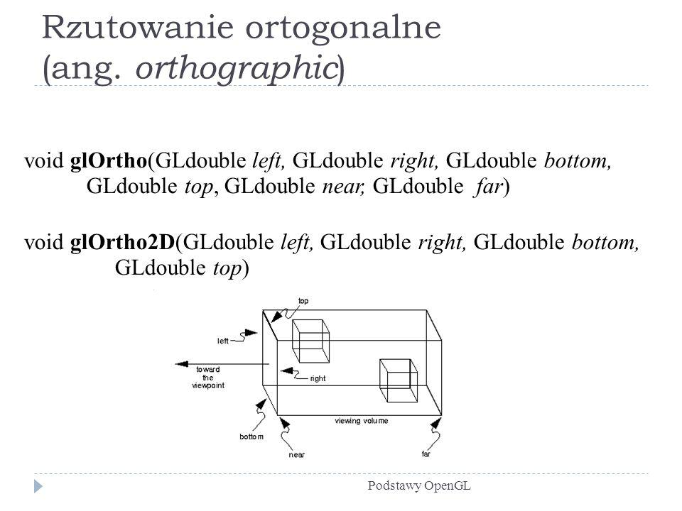 Rzutowanie ortogonalne (ang. orthographic)