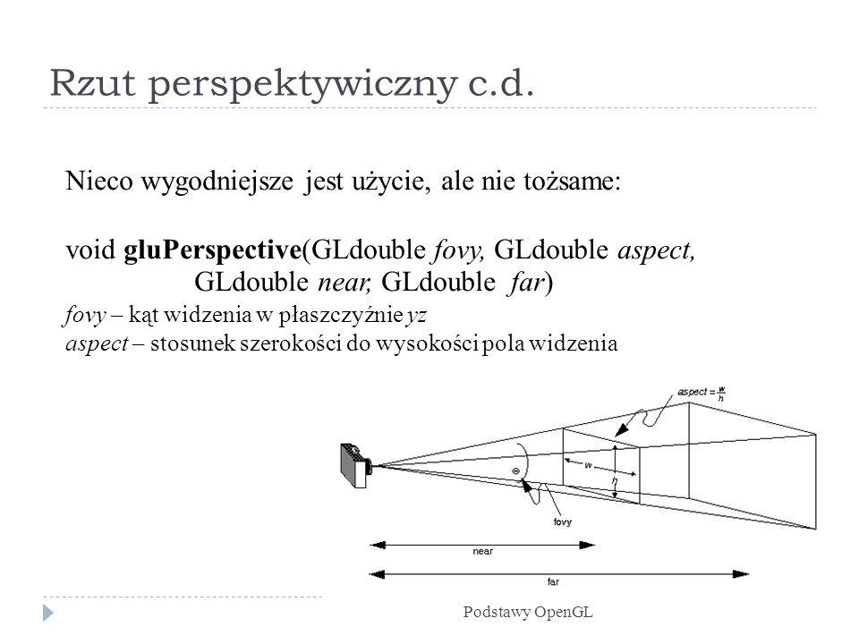 Rzut perspektywiczny c.d.