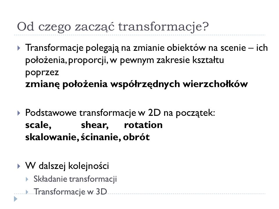 Od czego zacząć transformacje