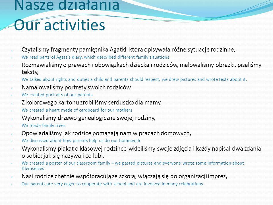 Nasze działania Our activities