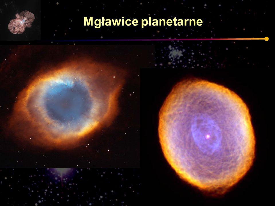 Mgławice planetarne Może dodać trochę o etapie niestabilności, pulsacjach.