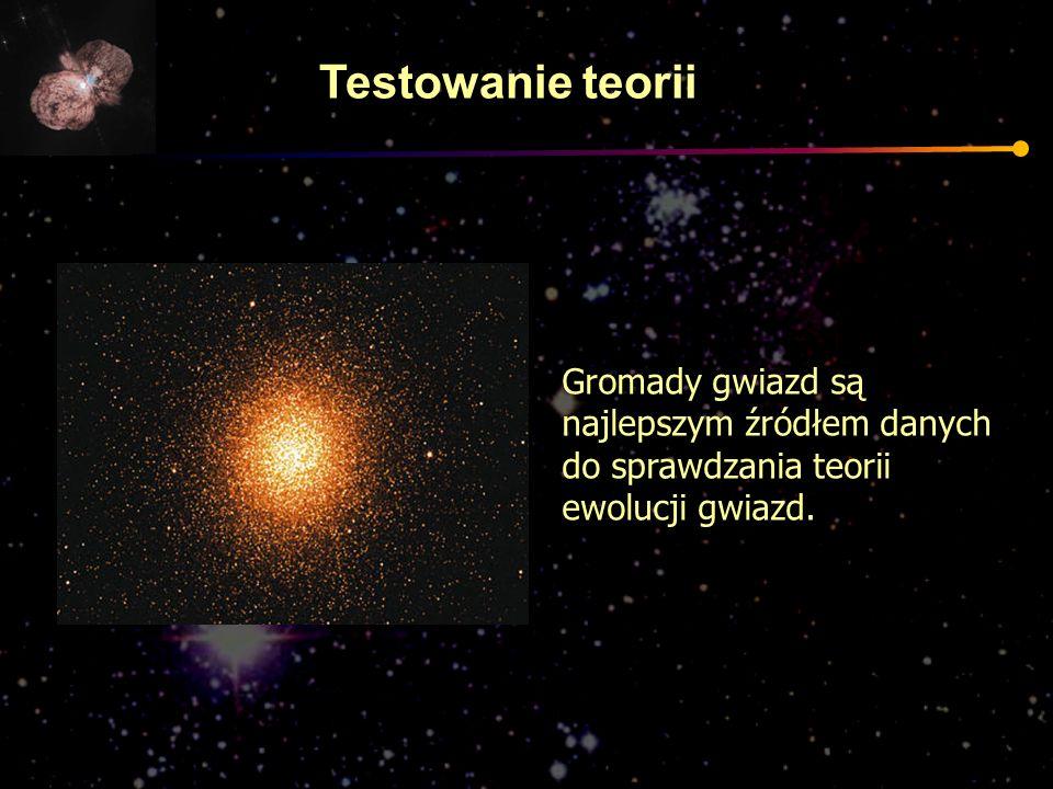 Testowanie teorii Gromady gwiazd są najlepszym źródłem danych do sprawdzania teorii ewolucji gwiazd.