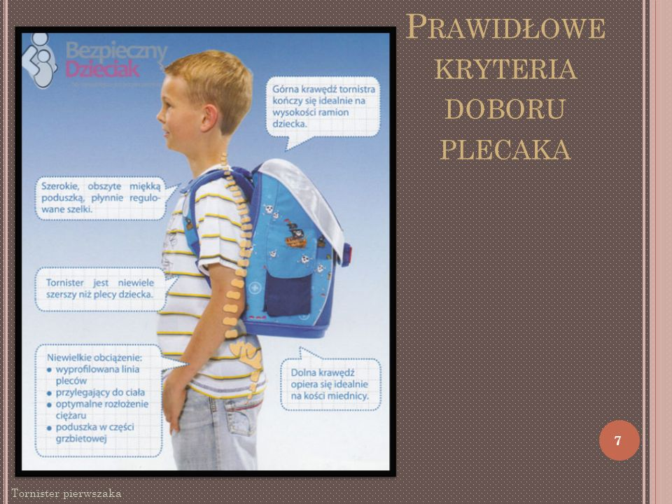 Prawidłowe kryteria doboru plecaka