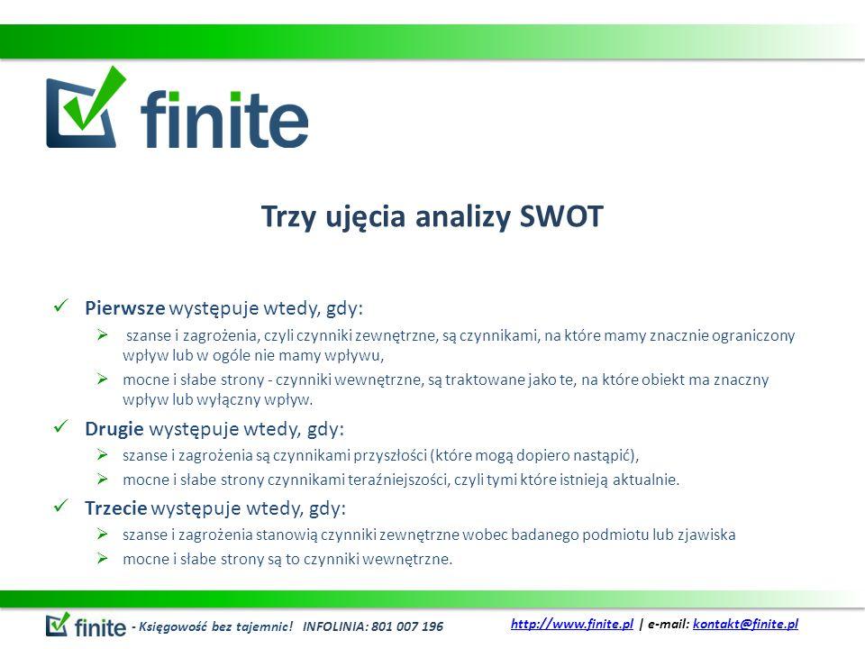 Trzy ujęcia analizy SWOT