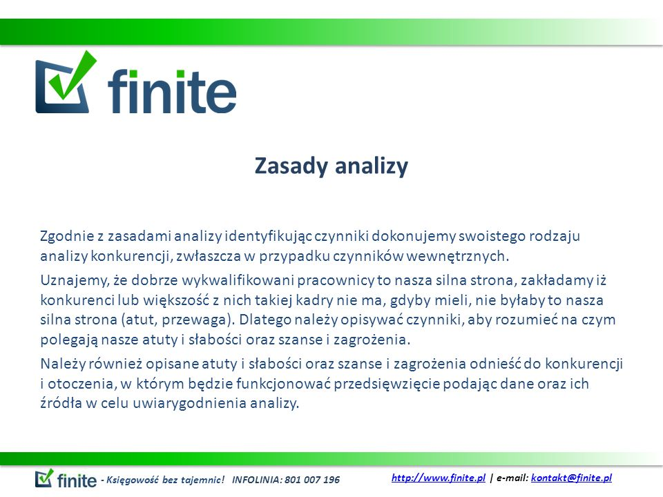 Zasady analizy