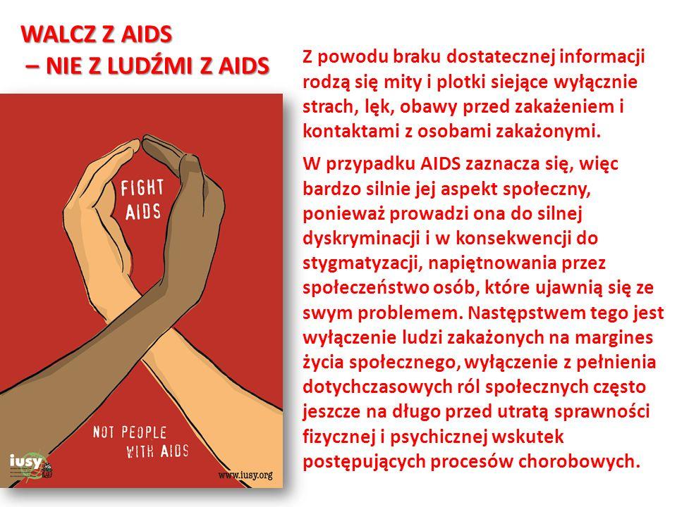 WALCZ Z AIDS – NIE Z LUDŹMI Z AIDS