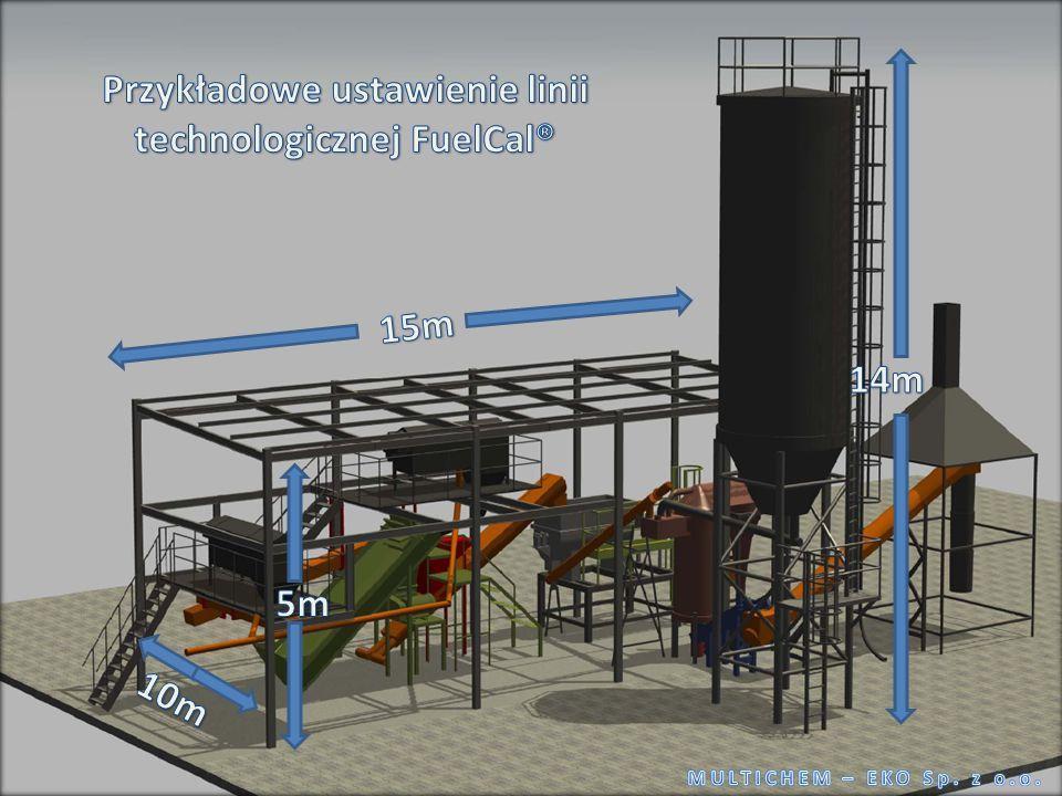 Przykładowe ustawienie linii technologicznej FuelCal®