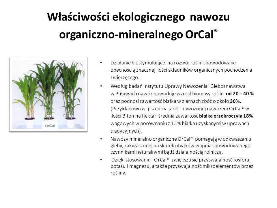 Właściwości ekologicznego nawozu organiczno-mineralnego OrCal®