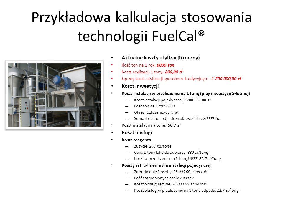 Przykładowa kalkulacja stosowania technologii FuelCal®