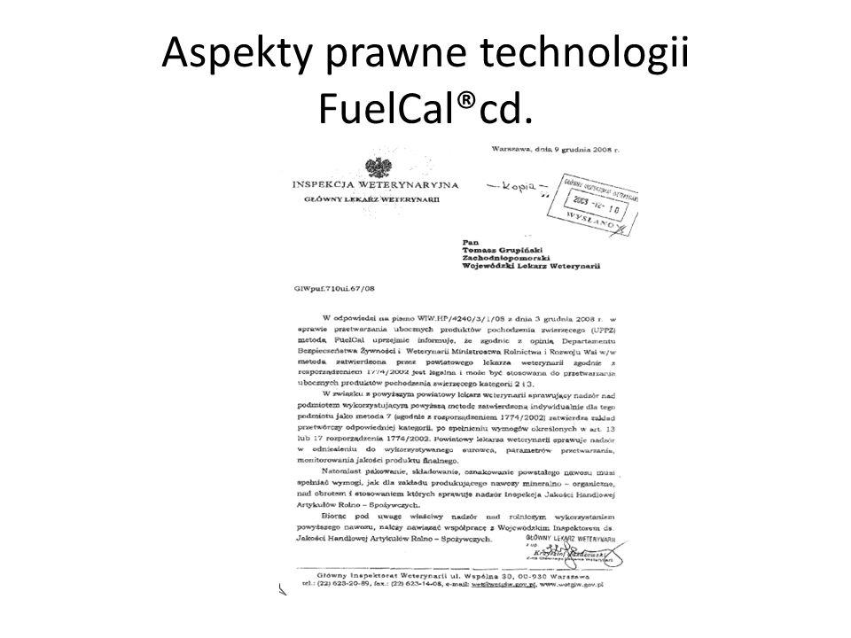 Aspekty prawne technologii FuelCal®cd.