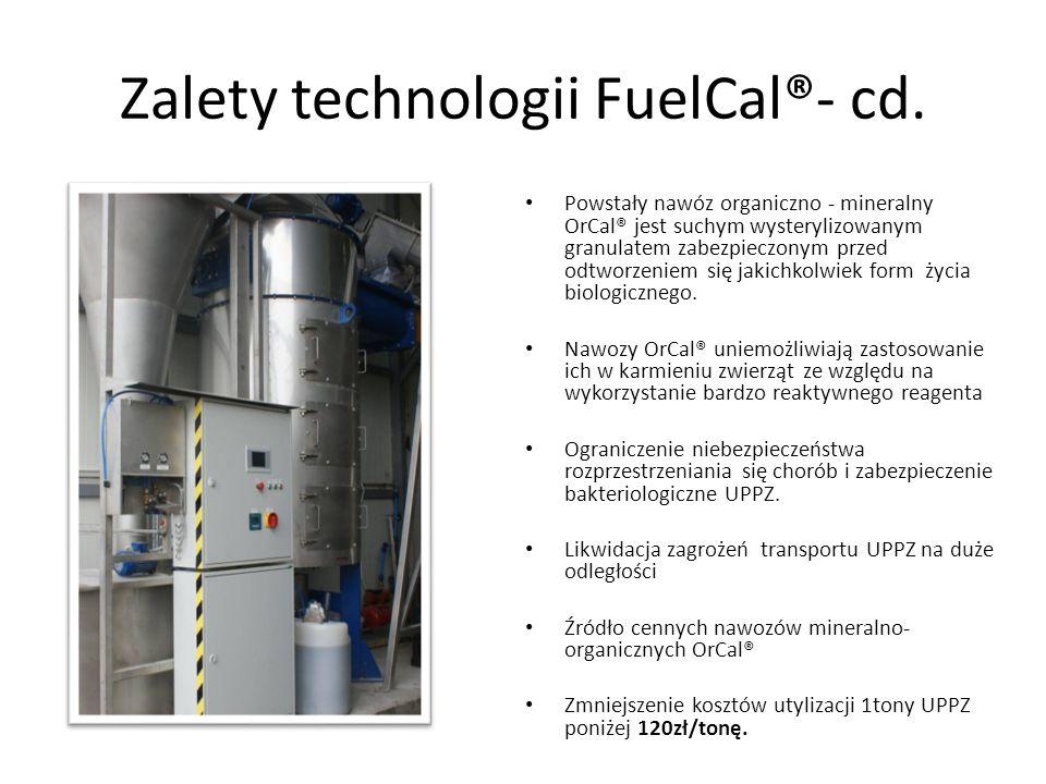 Zalety technologii FuelCal®- cd.