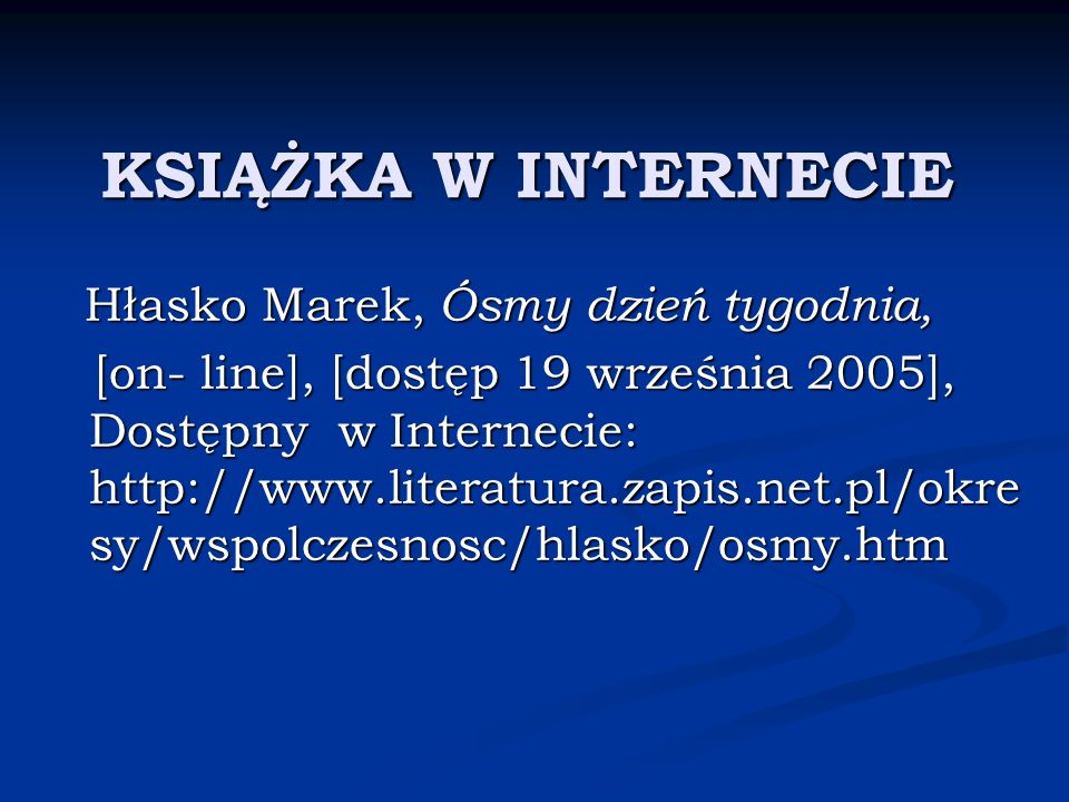 KSIĄŻKA W INTERNECIE Hłasko Marek, Ósmy dzień tygodnia,